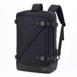 Novos homens da tendência da moda preto cinza mochila multi-função de grande capacidade de viagem à prova de água-mochila portátil mochila tático de