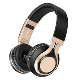 Unidad de radio online-Auriculares Bluetooth con micrófono HiFi Auriculares inalámbricos estéreo 40 MM Drive Auriculares plegables Soporte TF Radio FM Radio WiredWireless