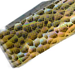 Wholesale Full Nail Foils - Cheap diy nail 1pcs 100cmx4cm Sexy Laser Gold Snake Skin DIY Nail Art Glitter Full Sticker Foils Decorations Beauty Manicure Tools STZXK23