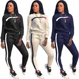 c4f1777264cd2 Pantalons pour femmes costumes 2018 automne chaud survêtements costume de sport  décontracté décontracté mode simple tenue en deux pièces 3 couleurs ...