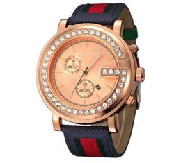 более чем 60 брендов Скидка Роскошные алмазные пары часы мужская нержавеющая сталь розовое золото часы цвет холст кожа кварцевые часы роскошные Orologi di lusso