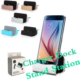 Wholesale Cradle Charger For Blackberry - Universal Quick Charger Docking Stand Station Cradle Charging Sync Dock For Samsung S8 S7edge Note 5 HTC Type C Android With Retail Box