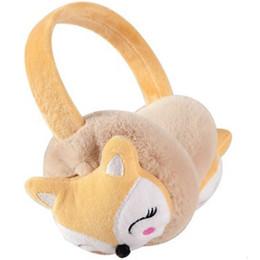 I morsetti auricolari dei bambini online-Fox New Child Ear Muff Moda Inverno Bella Addensare Peluche Paraorecchie di Alta Qualità di Colore Solido Bambini Ear Warmer Thermoscan AD0689