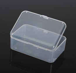 Wholesale Necklaces Collection - Mini Rectangle Plastic Clear Transparent Collection Jewelry Necklace Storage Container Case Box Holder Craft Organizer Free Shipping wen5437