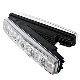 Dia de coche conducido corriendo online-2pcs LED Car DRL Luz corriente diurna 5 LED Super brillante Automóviles Faros antiniebla Luz del día Impermeable Car-styling