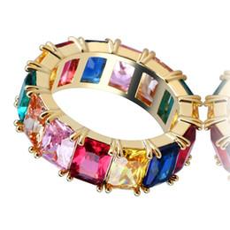 2019 l'anello di marina anchor Fashion Brand Hiphop Anelli per uomo Donna Luxury Design placcato oro Cubic Zirconia Ring Bling Ice Out gioielli Hip Hop