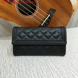Wholesale Buck Pocket - genuine leather caviar wallet ,19.5cm,high quality buck skin,88-788