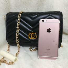 Wholesale Quilted Crossbody Bag - SALE Marmont shoulder bags women luxury brand chain crossbody bag fashion quilted heart leather handbags female famous designer purse Towel