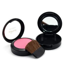Набор макияжа для девочек онлайн-6 Colors Women Mini Portable Cheek Long Lasting  Blush  With Mirror  Brush Girls Cosmetic Tool Set