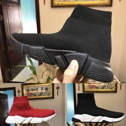 Wholesale Open Toe Socks Women - 2018 High Quality Luxury Socks Shoes Speed Trainer Sneakers Speed Trainer Sock Race Runners black Running Shoes men women Casual Shoes