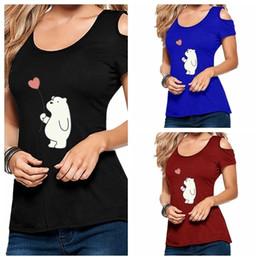 ab22ff66fbd 8 Fotos Cute cross t shirts en venta-Kawaii lindo oso polar con estampado  de corazón mujer