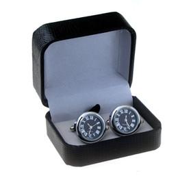 Canada Boîte de boutons de manchette en simili cuir croco avec présentoir de stockage facile à transporter, boutons de manchette haut de gamme, meilleur cadeau boîte à bijoux Offre