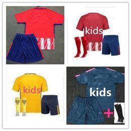 Wholesale Boys Blue Suits - Madrid Atletico kids temporada casa y lejos jerseys KOKE GODIN F.TORRES SAUL CARRASCO CORREA GRIEZMANN GABI THOMAS DIEGO COSTA Soccer suit