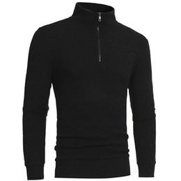 camisolas de moda para meninos Desconto Moda Masculina Zipper Casual High-collar Blusas dos homens Tops Inverno Masculino Menino Mais Quente de Cashmere Blusas Homens Malhas Drop Ship