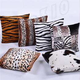 Almohada leopardo online-Lo nuevo de alta calidad Home Leopard Funda de Almohada Fundas de Almohada Fundas de almohada Decoración Cojines I377.