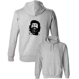 Wholesale Red Revolution - Che Guevara Head Portrait Revolution Hoodies Men's Women's Boy's Girl's Sweatshirt Gray White Yellow Red Jackets Fashion Outwear