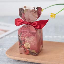 Scatole di regalo della scatola di favori di cerimonia nuziale dei contenitori di caramella di cerimonia nuziale del vaso romantico europeo 100pcs che spedice liberamente da