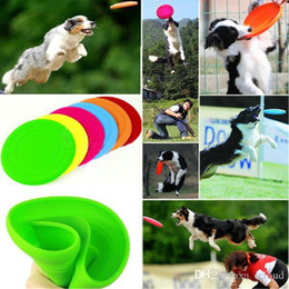 Wholesale Large Frisbee Disc - Foldable Dog Frisbee Tooth Resistant Flying Disc Outdoor Large Dog Training Toy Tooth Resistant Pet Fetch Toy A251