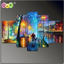 Wholesale Cross Stitch Scenery - wholesale Diy Diamond embroidery Painting Direct Selling Kits Needlework 3d Square diamond painting cross stitch Mosaic Colorful Scenery