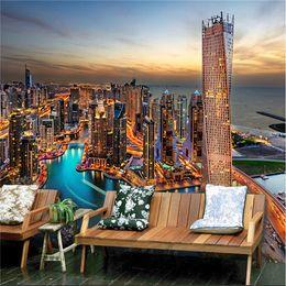 2019 tapeten europäischer stil Großes europäisches Fresko, Dubai Fischereihafen, Tapeten, Tapeten, Tapeten des Wohnzimmers günstig tapeten europäischer stil
