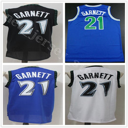 NCAA College Retro 21 Kevin Garnett Jersey Top Quality Black Blue White  Basketball Stitched Garnett Jerseys Free Shipping 788589dcf