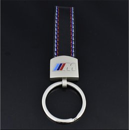 Wholesale Bmw M3 Series - Fashoin Metal+Leather Car Keychain Key Chain Ring For BMW BMW 3 5 7 Series i8 X1 X3 X5 X6 M3 M4 M5 M6