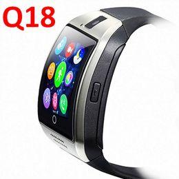 2019 medidor de ips Reloj de pulsera Q18 reloj inteligente Reloj smartwatch con cámara TF Ranura para tarjeta SIM / podómetro / Anti-perdida / para teléfonos Android de Apple