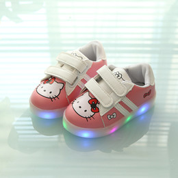 Wholesale Cartoon Sneakers - 2017 New Patch Led Fashion Baby Shoes Hot Sales Cartoon Boys Girls Shoes Glowing Toddlers Hot Sales First Walkers Sneakers