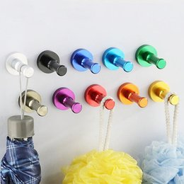 Wholesale wall mounted rack clothes - 2018 Aluminum robe hooks Towel Wall Hook Bathroom Kitchen Clothes Key Hat Bag Hanger Rack Holder Wall Mounted