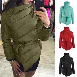 Wholesale wholesale long parka - Warm Winter Coat Women Long Sleeve Irregular Jacket Cotton Outwear Irregular Padded Warm Parka Overcoat Tops LJJO4383