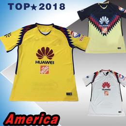 Wholesale American Football Jerseys Wholesale - 17 18 Top thai quality LIGA MX Club America soccer Jerseys 2017 2018 SAMBUEZA Camisetas O.Peralta American football shirts
