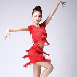 Vestido de baile de niña para la competencia Cha Cha Tango Latin Dress Trajes  de carnaval de Samba Sexy Fringe Women vestidos de tango sexy outlet 352c3f41f054a