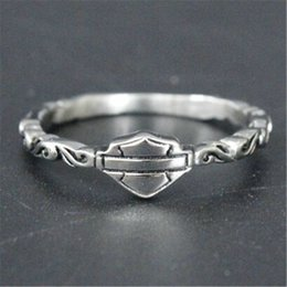 Wholesale biker jewelry silver - 5pcs lot Size 5-9 Biker Style Lady Girls Ring 316L Stainless Steel Fashion Jewelry Popular Hot Selling Motorcycles Ring