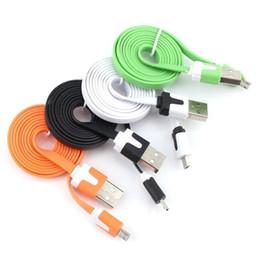 Синхронизация данных зарядное устройство быстрая зарядка Micro USB кабель кабели портативный лапша Usb шнур Micro V8 зарядные устройства для Android сотовый телефон cheap portable usb data cable от Поставщики портативный usb-кабель для передачи данных