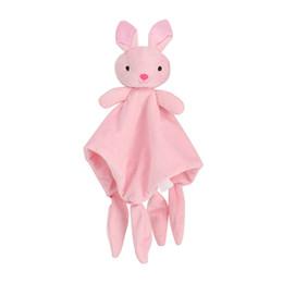 Giocattoli morbidi per bambini Asciugamano Coperta Coperta Calmante Sleeping Animal Coperta Asciugamano Educativi Sonagli Passeggino giocattolo da