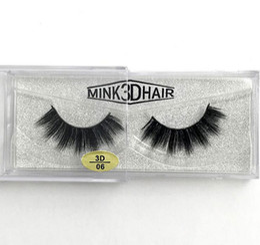 Wholesale real hot - Hot sell Real Siberian 3D Mink Strip False Eyelash Long Individual Eyelashes Mink Lashes free shipping
