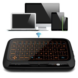 Wholesale xbox mouse - 2.4G Wireless Full Touchpad Mini Keyboard Gaming Backlight Fly Air Mouse Remote Control For Windows Android Smart TV Box Xbox PC