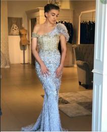 Robe de soirée longue robe manches courtes plume tulle sirène une épaule moderne classique éblouissante belle et facile populaire ? partir de fabricateur