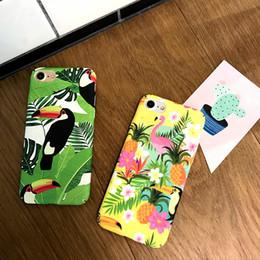 2019 couverture latérale pour iphone Pour Iphone X Téléphone Cas Flamingo Frais Rétro Givré PC Dur Side Pattern Couvrant Téléphone portable Cas Pour Iphone 6 7 8 Plus couverture latérale pour iphone pas cher