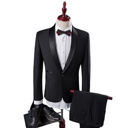 Beste mantel design anzüge online-Schwarz Herren Anzüge Bräutigam Smoking Groomsmen Hochzeit Abendessen männer neueste mantel hose designs Best Man Anzüge (Jacke + Pants)