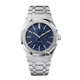 Wholesale men digital - Luxury Brand Watch Men ROYAL Fashion Classic Style 42mm Stainless Steel Strap High Quality Automatic Movement Wristwatches Sapphire 15400ST