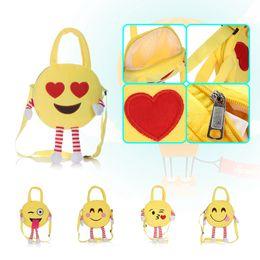 221b0b3ffc Cute Emoji Kids Plush Backpacks Toy Mini School Bag Children s Gifts  Kindergarten Boy Girl Baby Student Bags Lovely Mochila 12pcs OOA4496