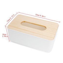 Wholesale drop seats - Tissue Box Dispenser Wooden Cover Paper Storage Holder Napkin Case Organizer Household#H0VH# Drop shipping