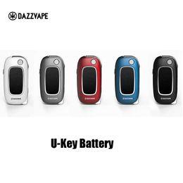 Bobina variabile online-100% originale Dazzvape U-Key Batteria di preriscaldamento 400mAh Vape di tensione variabile Mod Per 510 cartuccia di olio ceramico di spessore