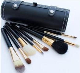 9 Unids Set Kit Pinceles de Maquillaje Belleza de Viaje Profesional Mango de Madera Fundación Labios Cosméticos Pincel de Maquillaje con Holder Cup Case desde fabricantes