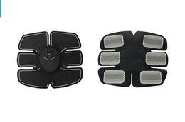 Cinghia del massager di grasso online-Stimolatore ABS Smart Fitness EMS addominale Stimolazione muscolare elettrica Cintura per allenatore muscolare Bruciatore di grasso Massager Body Slimming Pad 1 set