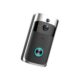 fernleistungsmonitor Rabatt Smart Wireless Video-türsprech WiFi Sicherheit Türklingel Smart Visual Aufnahme Geringer Stromverbrauch Remote Home Monitoring