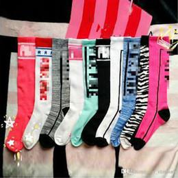 Wholesale Love Dresses - 2Gift Lovely Ladies Long Women Sock Stripey love Stocking letter colorful dress Skateboard Stripe Over Harajuku The Knee High Socks LYM