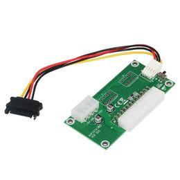 Wholesale Psu Sata - ATX 24-Pin Dual PSU Power Synchronous Start Extender 4pin +sata Detection Cable for Bitcoin Mining for PC Desktop