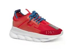 Deutschland Ohne Box Luxus Herren Schuhe High Heel Chain Reaction Sneakers Turnschuhe Herren Sneaker leichte Kette verkettete Gummisohle Schuhe Versorgung